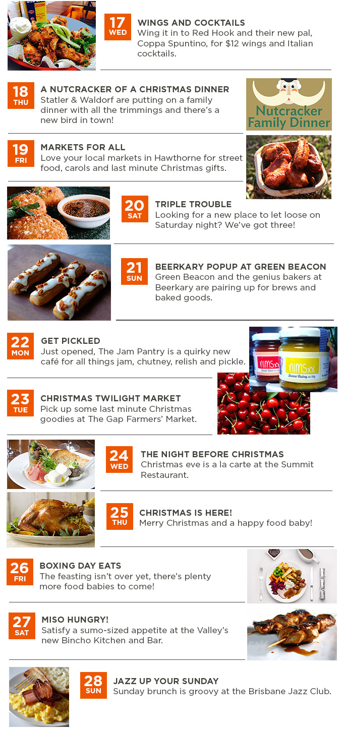 What\'s on this week in food: December 17-28   Gourmand and Gourmet